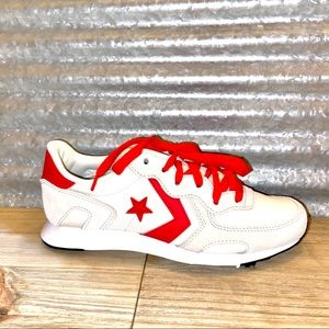 Converse White & Red Athletic Shoes Men's Size 4